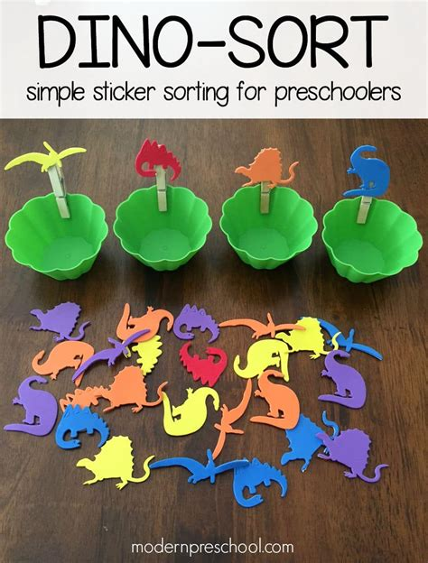21 easy dinosaur activities for socal field trips 806 | Dinosaur Sticker Activity for Kids