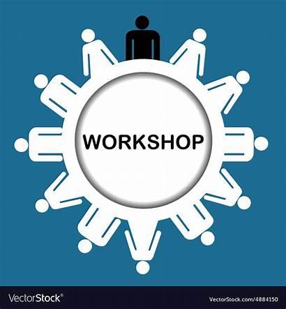 Workshop Icon Vector Vectors Royalty Illustration Symbols