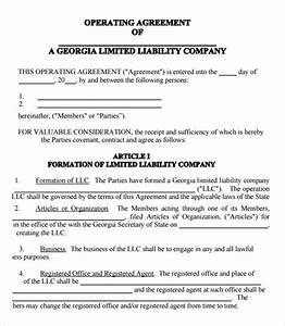 llc operating agreement template pdf emsecinfo With free llc documents