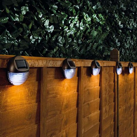 solar lights for fence solar fence lights set of two from 9 99 in solar