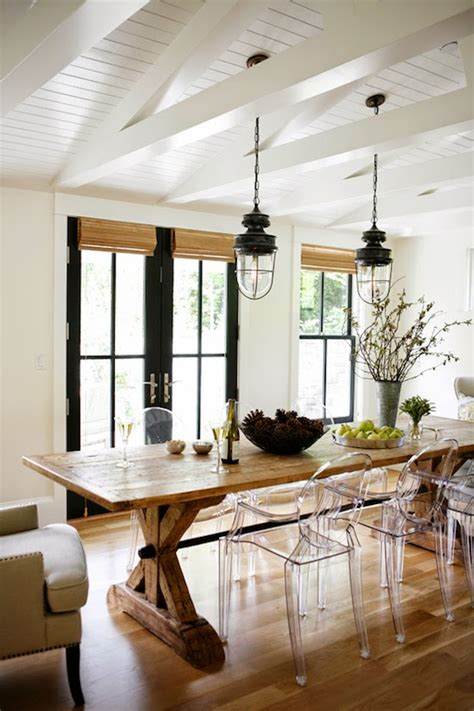 modern farmhouse dining room lighting modern farmhouse kitchen dining area lucite side chairs