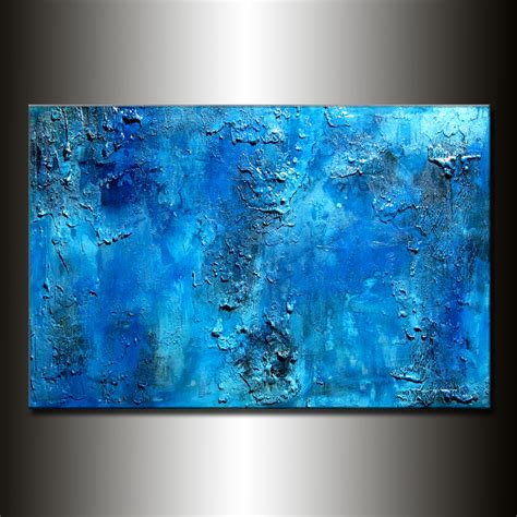 modern blue painting paintings originals for sale original thick texture blue abstract painting contemporary