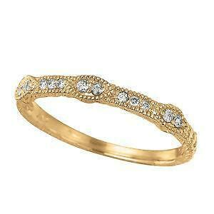 This 14k yellow gold and platinum diamond band is in immaculate condition. Antique Yellow Gold Wedding Band | eBay