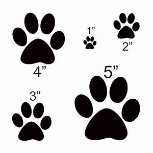 dog paw stencil 1quot 2quot 3quot 4quot 5quot for signs scrapbook fabric With what kind of paint to use on kitchen cabinets for wedding scrapbook stickers