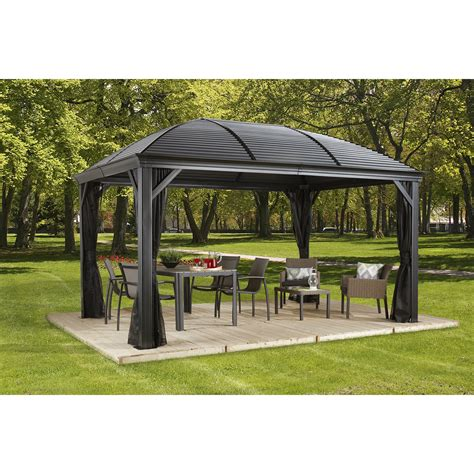 sojag moreno ft ft metal permanent gazebo wayfair