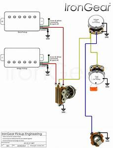 2 Humbucker 2v Push Pull Tone Wiring Diagram