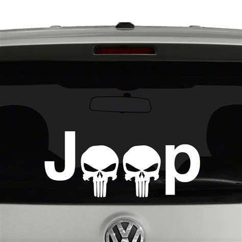 jeep vinyl decals jeep punisher skulls vinyl decal sticker car window