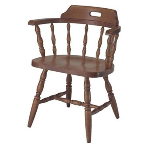 solid wood captains chair with arms chairs
