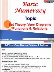 Basic Numeracy Set Theory Venn Diagrams Functions