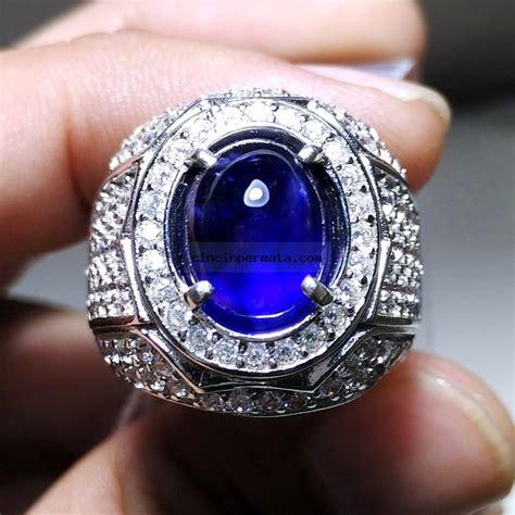 cincin permata batu blue safir cincinpermata jual batu permata batu mulia asli murah