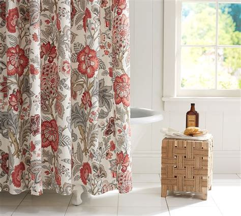 pottery barn shower curtains allegra palore shower curtain pottery barn