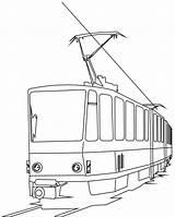 Coloring Train Dessin Tramway Tram Electric Cartoon Passenger Bridge Transports Children Coloriage Transport Colorare Colorear Immagini Printables Dibujo Pdf sketch template