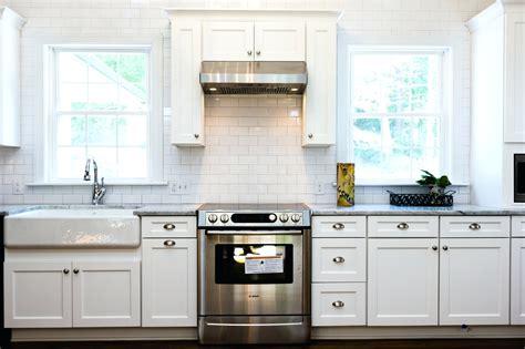 white kitchen subway tile backsplash white subway tile kitchen backsplash