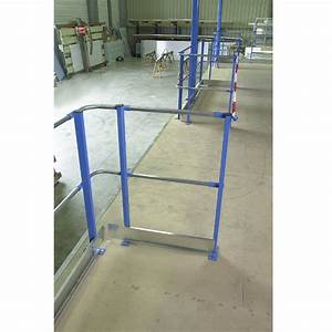 Garde corps tubulaire pour plateforme de stockage / Rayonor Maintenance and Co