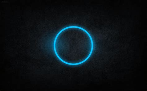 Abstract Black Circle by Abstract Blue Black Circles Rings Cyan Neon Blue