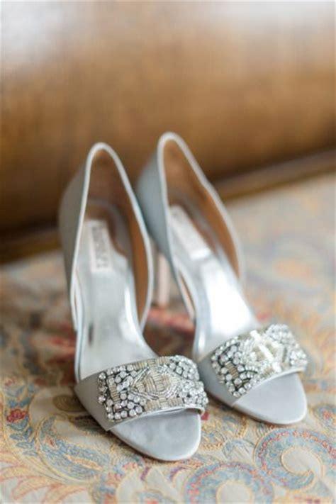 glam silver wedding shoes  wow deer pearl flowers