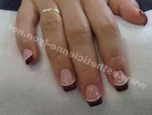 French Manucure Couleur : ongle gel french couleur deco ~ Nature-et-papiers.com Idées de Décoration