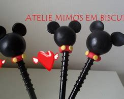 ponteira de l 225 pis do mickey e minnie no elo7 ateli 202 mimos em biscuit 375145