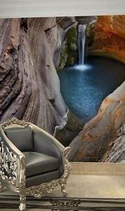 3d Stereoscopic Underground Cave Waterfall Scene Wallpaper ...
