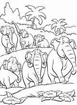 Coloring Disney Jungle Herd Elephants Printable Animal Kid African Printables Kidsdrawing Cartoon Mowgli Majuu Animals Pinnwand Auswählen sketch template