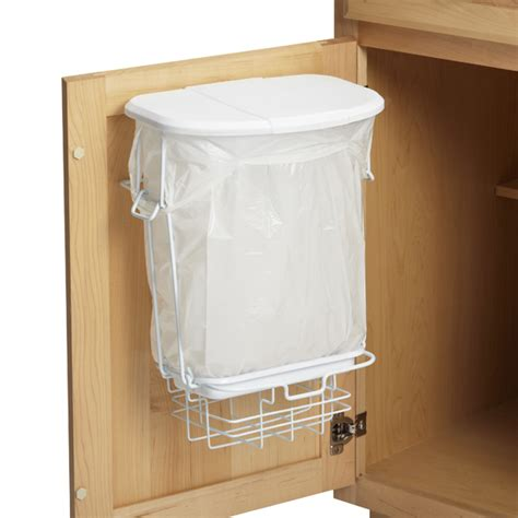 inside cabinet trash can trashrac the container store