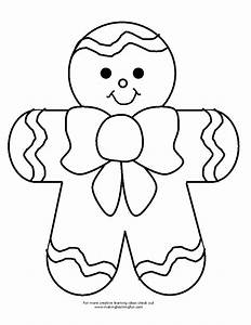 gingerbreadman coloring page - bingo marker and coloring pages for gingerbread theme