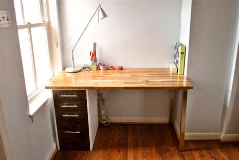 bedroom desk with drawers custom beech and maple desk ikea hackers ikea hackers
