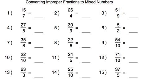 6th Grade Mixed Numbers And Improper Fractions  1000 Ideas About Improper Fractions On