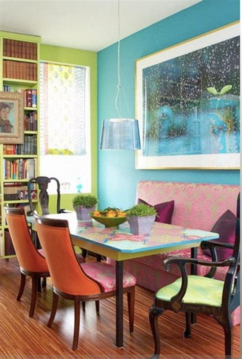 lively colorful dining room design ideas rilane