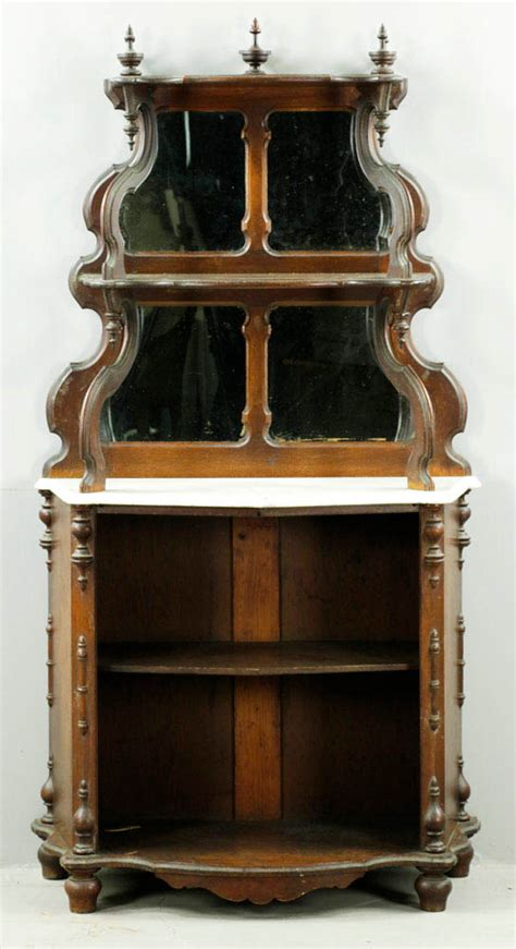 Lot Detail  Victorian Marbletop Etagere