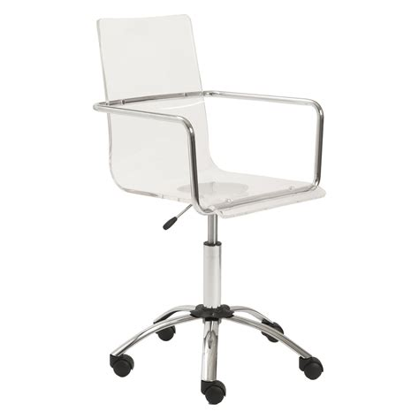 clear plastic desk chair clear acrylic adjustable desk chair with stainless steel