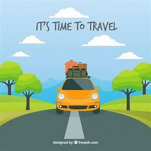 Fondo de viaje en estilo plano   Descargar Vectores gratis