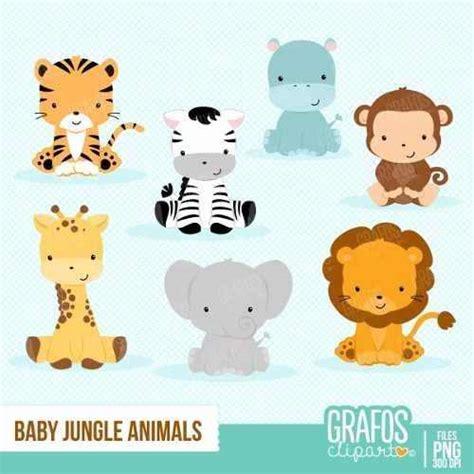 kit imprimible animalitos de la selva 21 imagenes clipart bs 13 80 en mercado libre