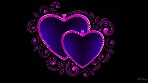 Purple and Blue Hearts Full HD Wallpaper and Background ...