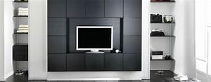 Meuble Tv Rangement : meuble tv avec rangement design ~ Teatrodelosmanantiales.com Idées de Décoration