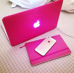 home accessory, macbook, cover, phone cover, pink, style ...