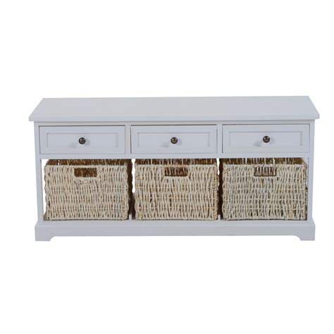 stylish ebay living room furniture entryway wooden storage bench with 3 drawers baskets home