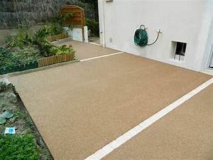 terrasse en beton drainant colore pose de sol exterieur With terrasse en beton colore