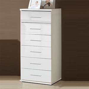 Alton Chest Of Drawers Tall In High Gloss Alpine White