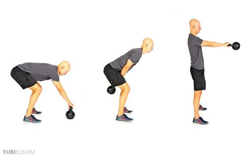kettlebell exercises loss weight swing printable workout glutes kb core swings muscles worked