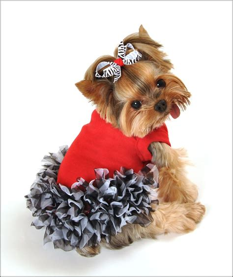 maddie dog dress  red black white