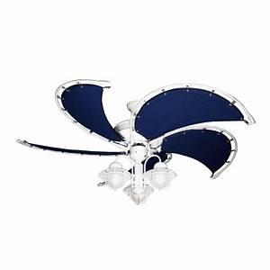 Gulf coast nautical raindance outdoor ceiling fan with