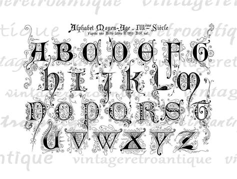Fancy Letters Of The Alphabet Clipart