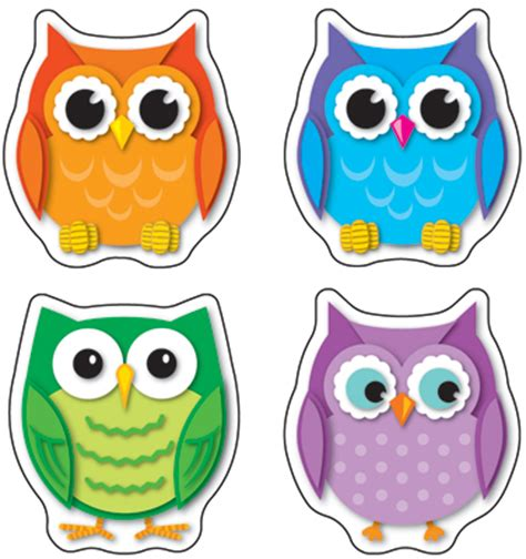 Product Of The Week An Interactive Owl Shaped Security by Dominie Colourful Owls Shape Stickers