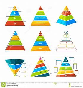 Set Of Different Triangles And Pyramids With Levels
