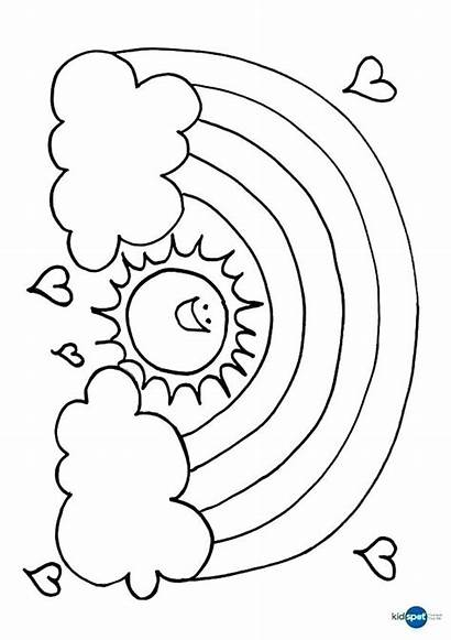 Sunset Coloring Pages Beach Sun Printable Getcolorings