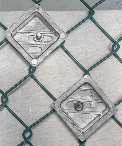 tamper resistant  chain link fence sign mounting brackets