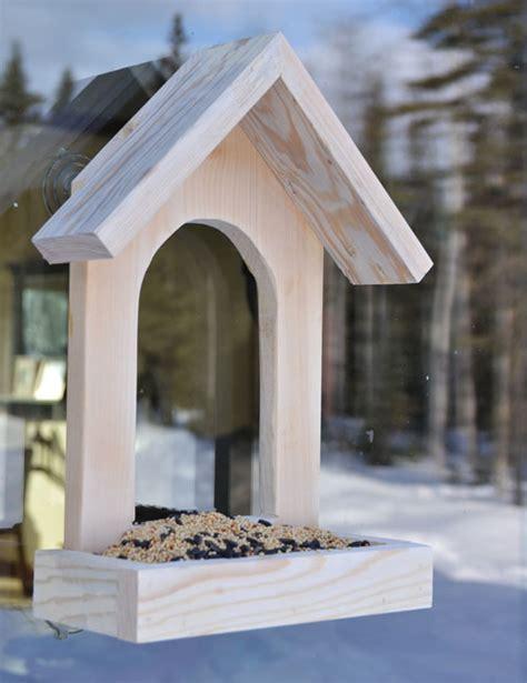 window bird feeder white window birdfeeder diy projects