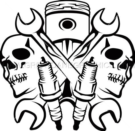 skull logo t shirt mechanic skulls production ready artwork for t shirt