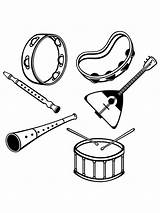 Coloring Musical Instrument Pages Mycoloring Printable sketch template